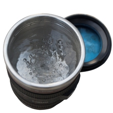 300ML Emulation Camera Lens Stainless Steel Inner Kitchen Dining Bar Drinkware Home Office Milk Tea Coffee Self Stirring Mug Cup(China (Mainland))