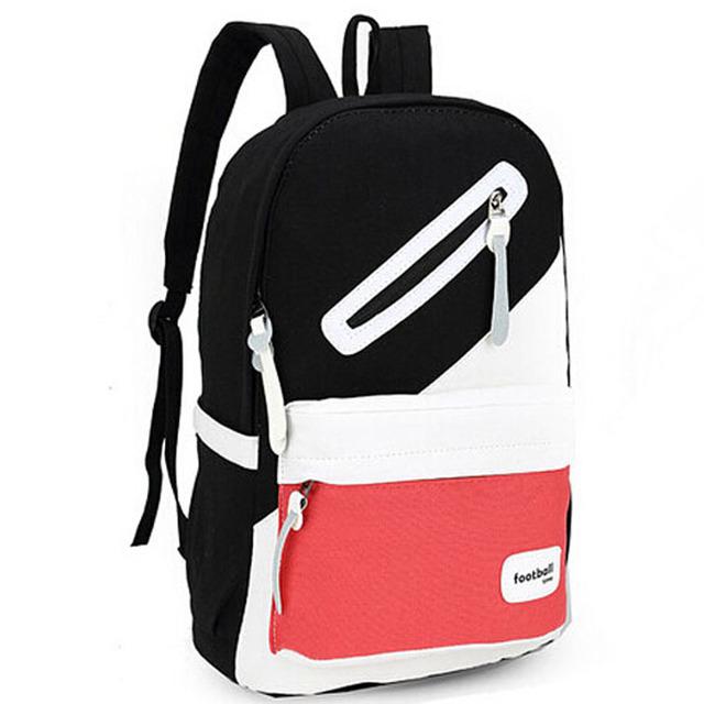 2015 новый бренд свободного покроя женщины рюкзак опрятный стиль холст школьные сумки ...