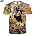 Mr 1991 3D Animal t shirt for boys and girls Funny magic kute kitten A variety