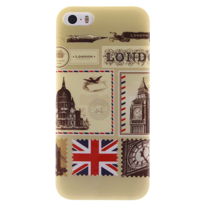 For Iphone 5 5S Cases London Envelope Style Pattern Soft TPU Case Cover For Iphone 5 5S Fashion Phone Shell(China (Mainland))