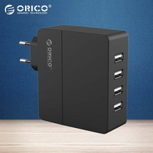 ORICO 4-Port Wall USB Phone Charger 5V2.4A*4 6A30W Total Output with Original Europe Plug-Black/White(DCA-4U)(China (Mainland))