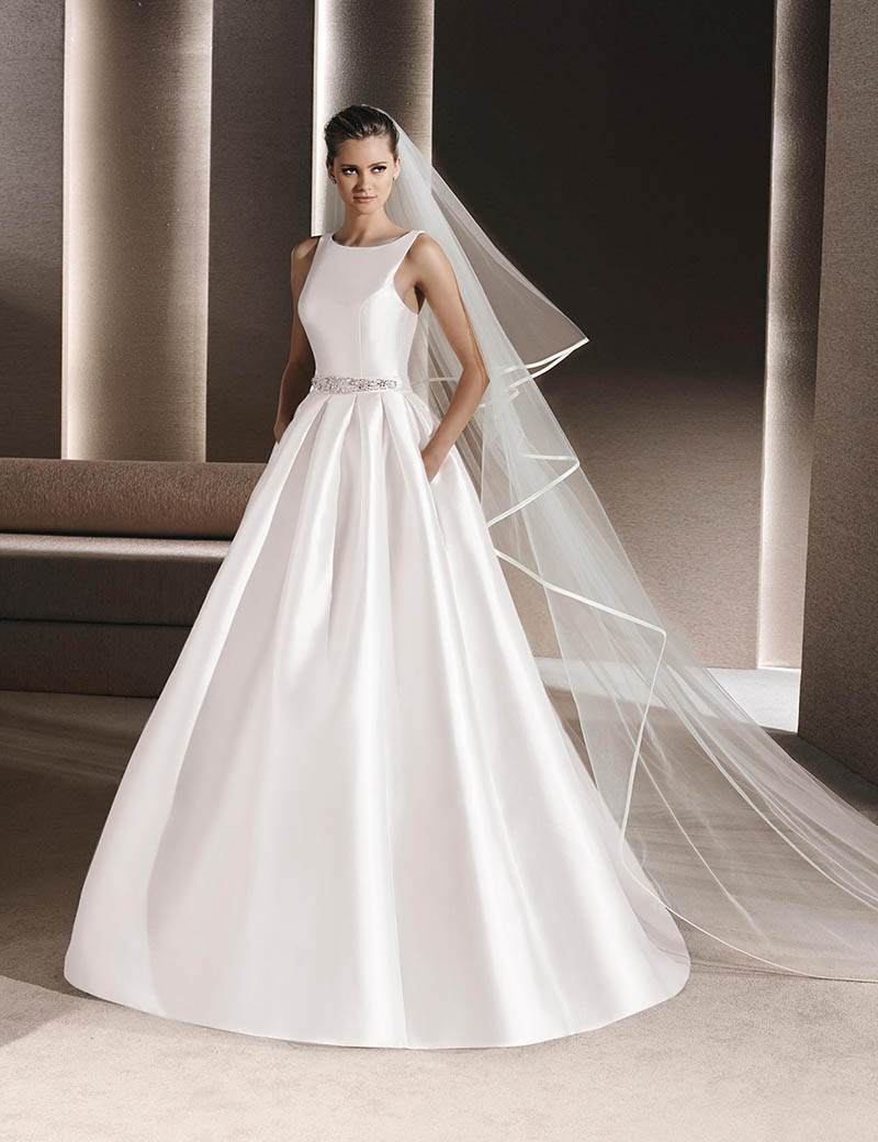 Tailored Wedding Dresses Vestidos Satin Vintage A Line