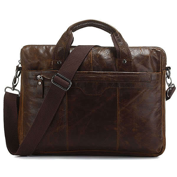 7075Q Classic Vintage Leather Men's Chocolate Hand Tiny Laptop Bag Briefcase Messenger(China (Mainland))