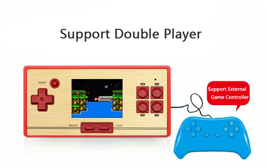 handheld game consoles 2.6 inch color screen Classic 8bit video Game player with 600 games Free 2nd Player Controller Gamepad