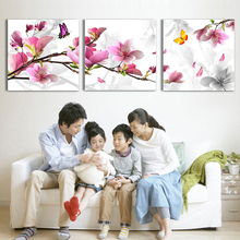 Wholesale 3pcs Flower Oil Painting Printed Painting Oil Painting On Canvas Home Decorative Art Picture(China (Mainland))