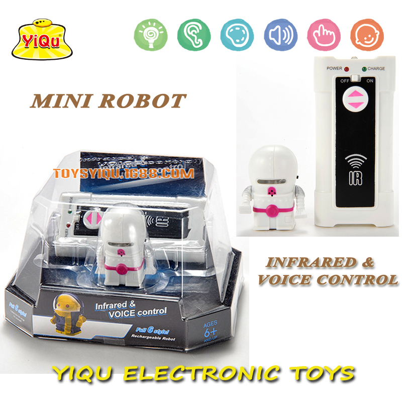 New infrared control & sound control robot electronic toys mini intelligent Robot Toys free shipping(China (Mainland))