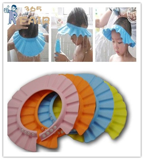 shampoo shower bath cap baby shower cap baby hair wash hat 3pcs lot