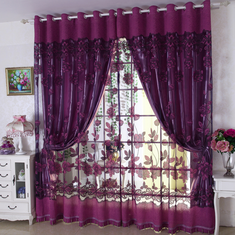 Purple Curtains For Bedroom Sheer Purple Curtains Free Image