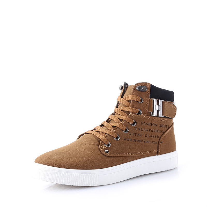 New 2014 Autumn Men Fashion High Style Canvas Shoes High Quality Casual Men's Sneakers European Design Male Flat Shoes RM-194(China (Mainland))
