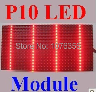 free shipping 2015 high brightness p10 semi-outdoor LED display red color p10 display screen module for LED text sign(China (Mainland))