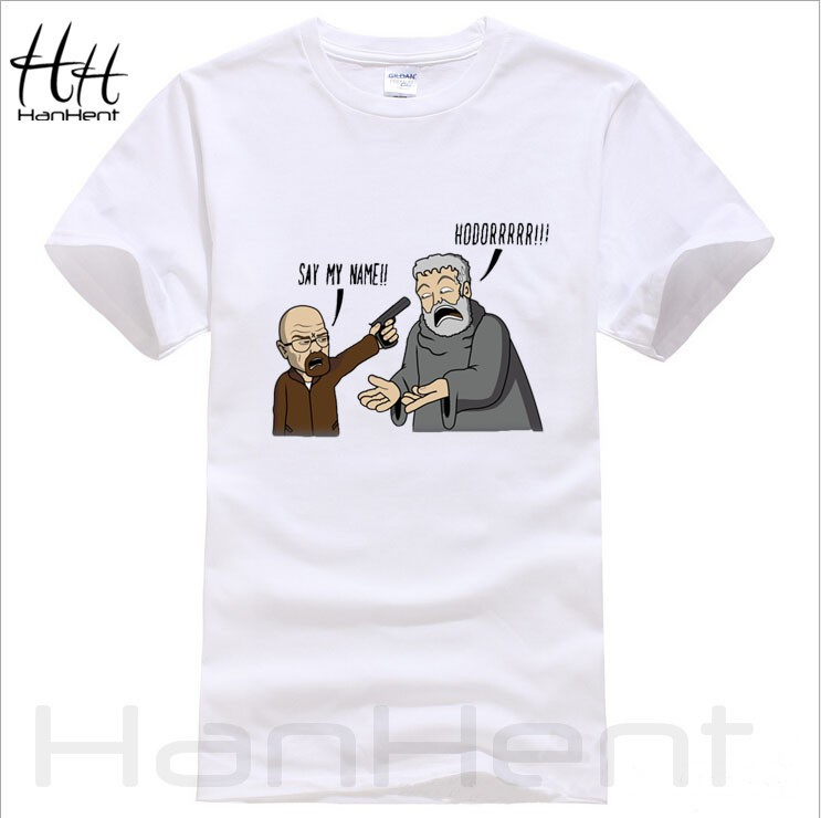 Game of thrones breaking bad hodor funny t shirt men for Free gym t shirts