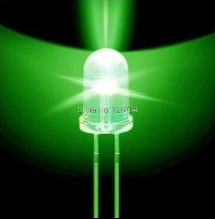 Гаджет  Free shipping 1000pcs /lot Transparent Round LED 5MM Green Light Colour LED bulbs green light emitting diode F5mm Green LED None Электронные компоненты и материалы