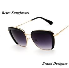 New Fashion Sunglasses Women Brand Designer Semi Rimless Sunglasses Vintage Metal Arm For Women Sun Glasses Oculos De Sol Z31