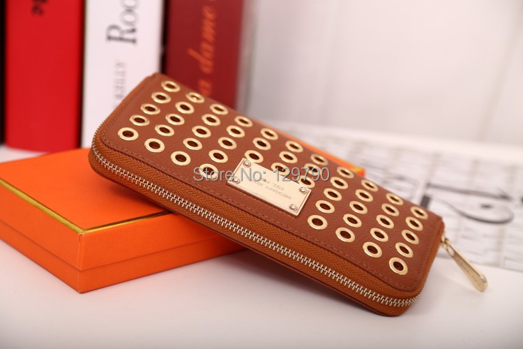 2013 fashion wallet wholesale-High quality Michaels zipper wallet genuine leather purse free shipping 10pcs/lot<br><br>Aliexpress