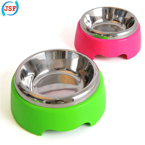 High Colorful Stainless Steel Small Dog Bowl Feeders, JSF-Feeders-011(China (Mainland))