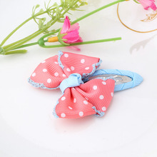 New Dot Bow Hairpins Baby Hair Accessories Hair Ornaments Bowknot BB Clip Barrette For Kids