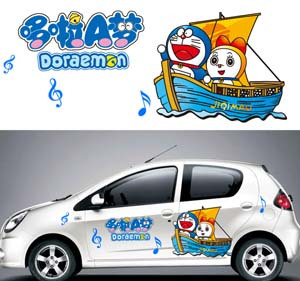 Viking vehicle stickers / car pull flower stickers animation, cartoon car stickers / DUO A DREAM  whole stickers<br><br>Aliexpress