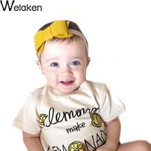 Hot Sale 2016 Children T-Shirt Cotton O-Neck Short Sleeve Lemon Print Kids Tops Summer All-Match Boy Girl Tee