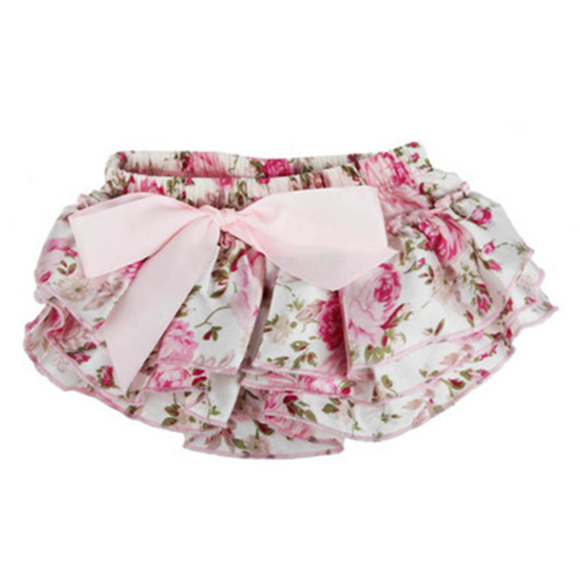 Baby Ruffle Bloomers Layers Diaper Cover Flower Shorts Skirts Summer(China (Mainland))