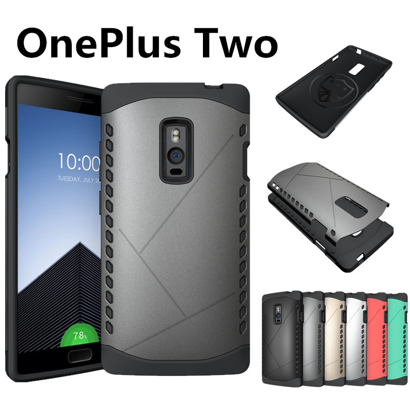 New Arrival Hybrid TPU + PC Matte Frosted Shield Armor Hard Case For Oneplus Two 2 Cover One Plus A2001 Cases Free Shipping(China (Mainland))