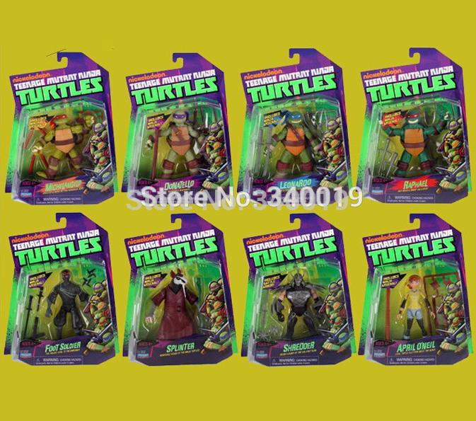 Teenage Mutant Ninja Turtles action figures toy Shredder Splinter April O'Neil Foot soldier kraang bebop rocksteady tmnt toys  -  Love shopping one store