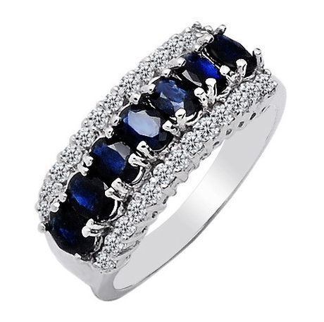 Guaranteed 100% 925 sterling silver inlaid natural  bule sapphire ring   for  women gift  jewelry<br><br>Aliexpress