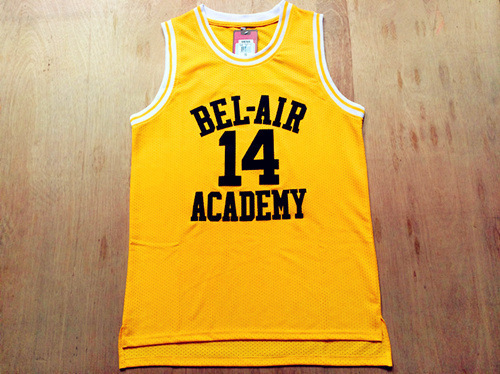 Banks Basketball Jersey Will Smith Fresh Prince Jersey Shirts Yellow Black Letters and Maroon Letters Hip Hop Basketball Jersey(China (Mainland))
