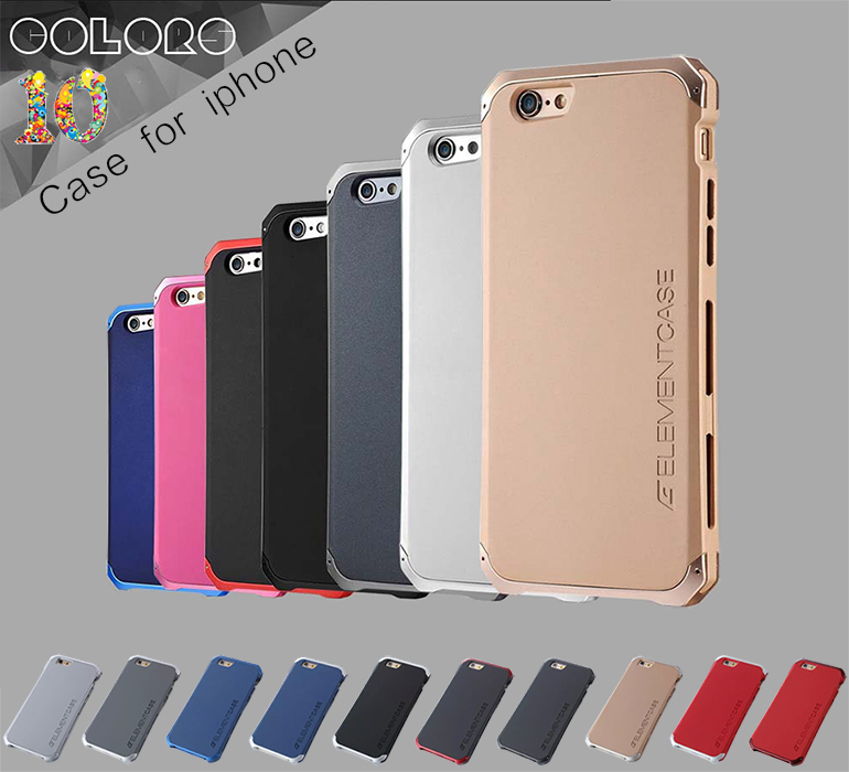 Free Shipping ELEMENT Aluminum Metal Frame Back Cover Matte Frosted Aluminum Metal Protector Case For iPhone 5 5s(China (Mainland))