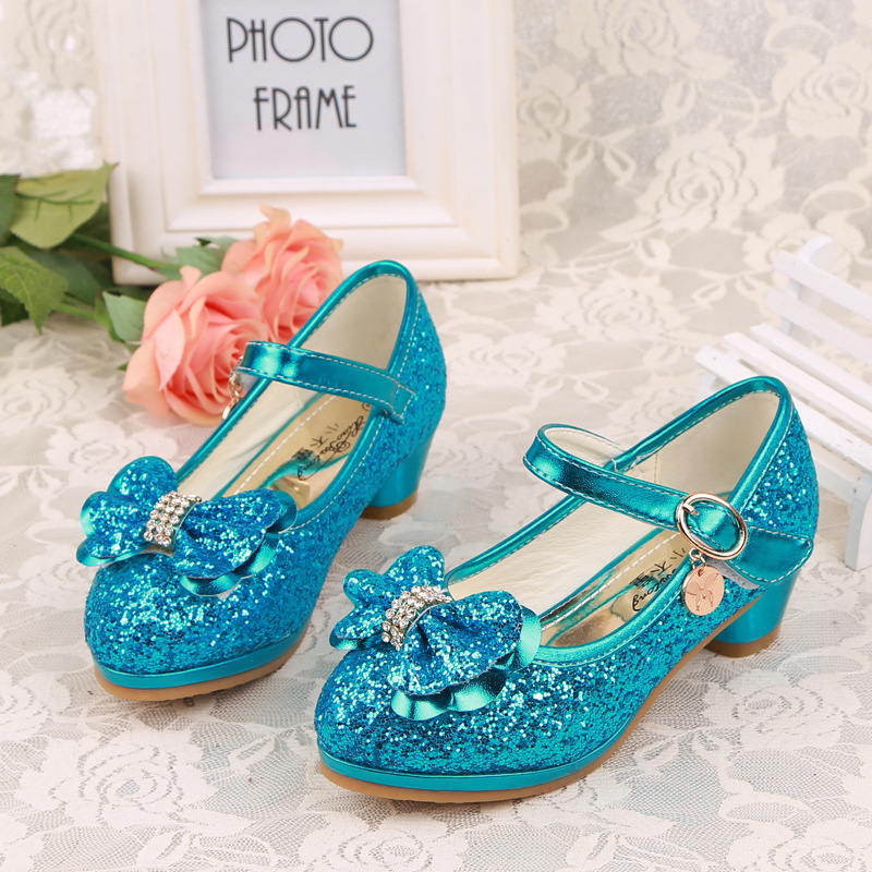 Buy 2016 children princess sandals kids for Blue shoes for wedding dress