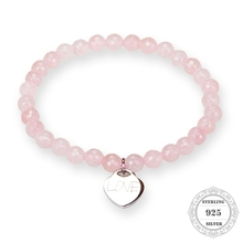 Buy HEMISTON Thomas Rose Quartz Bead Bracelet 925 Sterling Silver Love Heart Charm Women Wedding Fine Jewelry Gift TS 002 for $12.11 in AliExpress store