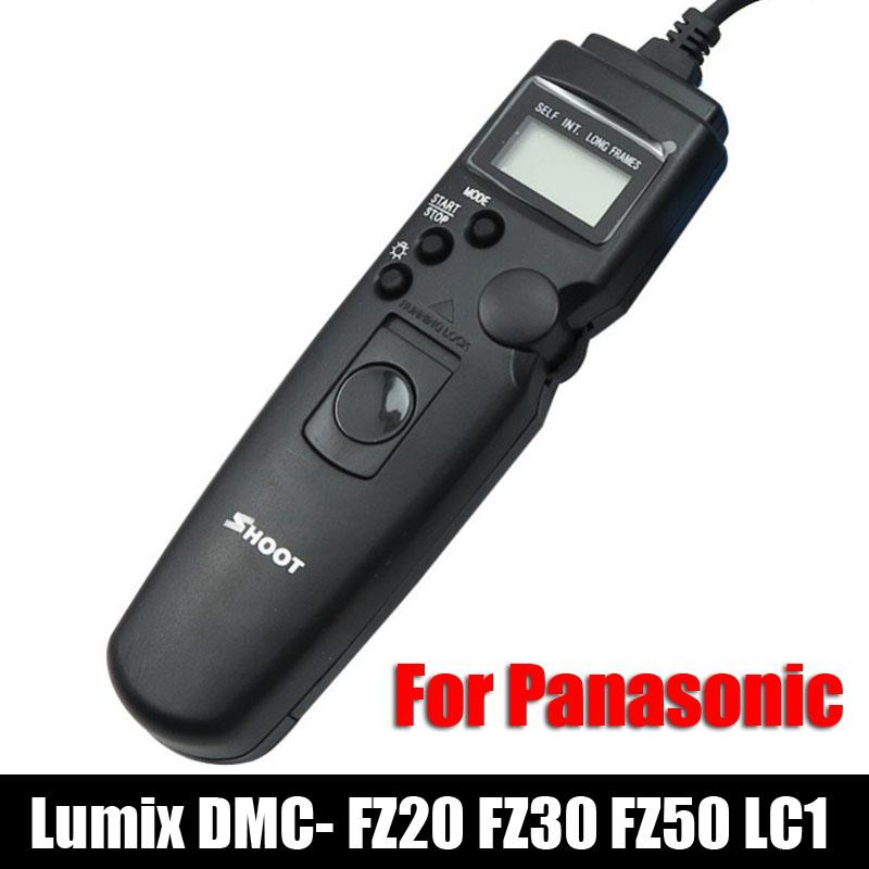 TC DMW-RS1 LCD Selfie Timer Remote Control Shutter Cable for Panasonic Lumix DMC- FZ20 FZ30 FZ50 LC1 L10 G10 Leica DSLR Camera(China (Mainland))