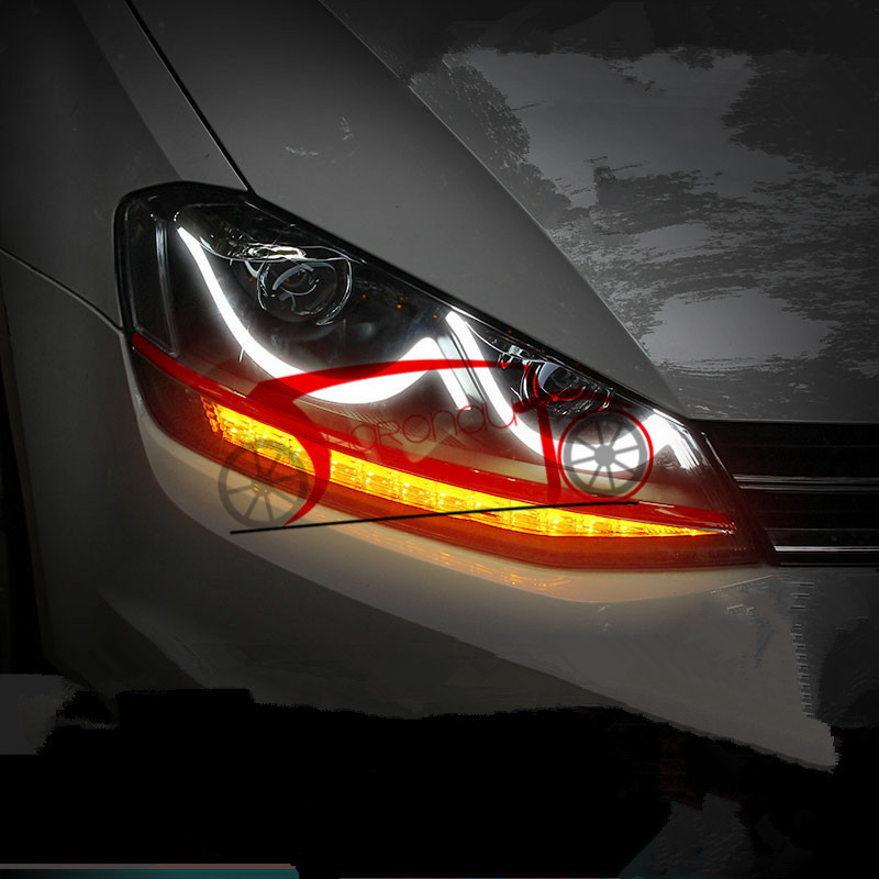 HID Head Light For VW Golf MK7 VII Headlights LED DRL Xenon Lamps 13-15(China (Mainland))