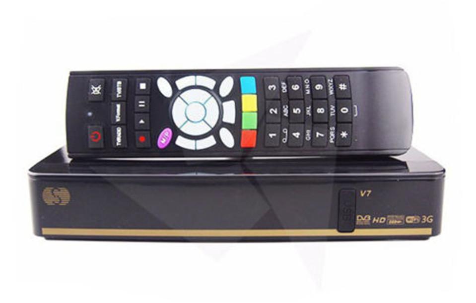 New BOX V7 Digital Satellite Receiver S V7 AV output VFD Support 2xUSB WEB TV USB Wifi 3G Biss Key Youporn CCCAMD(China (Mainland))