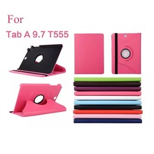 2015 New Case For Samsung Galaxy Tab A 9.7 inch T555 / T550 Tablet PU Leather Case Cover Rotating with Free Stylus Pen