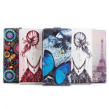 Cubot H1 Case Color Painted Up Down Open Flip Leather Phone Case Cover For Cubot H1 5.5 Inch MTK6735 Quad Core Smartphone
