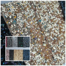 New! glitter pieces synthetic leather fabric elastic PVC faux leather textile fabric 14 color for bag decorative leather fabric(China (Mainland))
