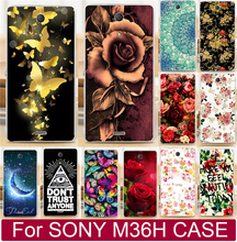 Buy Beautiful Flower Perfect Design Cell Phone Case Fundas Sony Xperia ZR C5502 C5503 M36h Case Shell Cover for $1.44 in AliExpress store