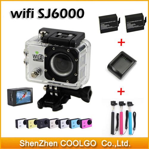 "Original SJ6000 WiFi 30M Waterproof Sport DV Action Camera 12MP Full HD 1080P 30FPS 2.0""LCD Diving Gopro camera style + Monopod(China (Mainland))"
