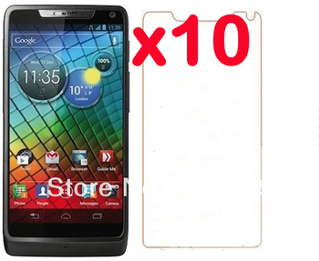 10X New CLEAR LCD Screen Protector Guard Cover Film For Motorola RAZR i XT890