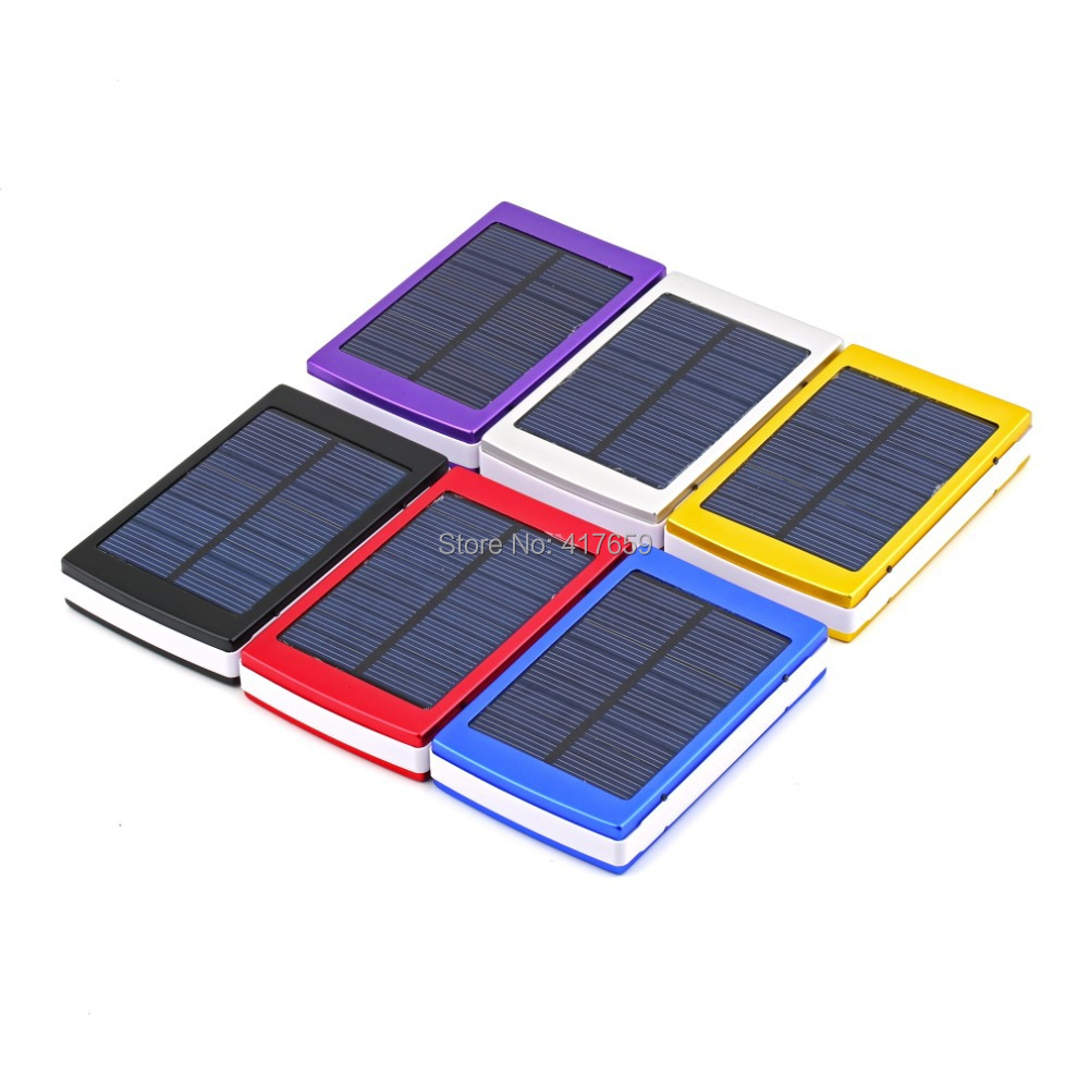 50000mAh Dual USB Solar Power Panel Portable Solar Charger External Battery Charger Solar Battery Bank For iphone Promotion(China (Mainland))