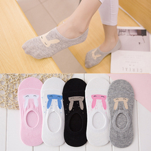 Buy 10pieces=5pair NEW Ms summer ankle socks women candy color silicone antiskid invisible socks cool Cotton socks free for $4.66 in AliExpress store
