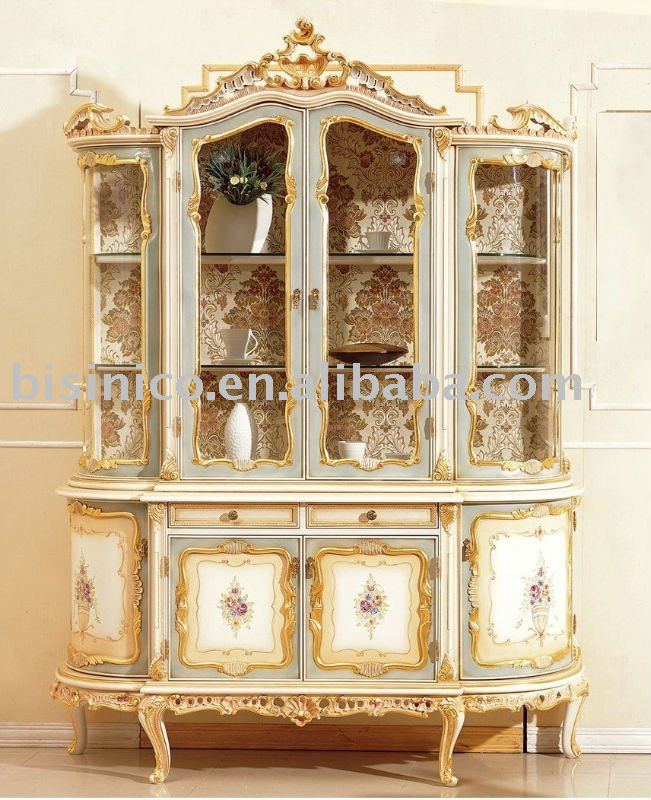 european style hand painted furniture, display cabinet(China (Mainland))
