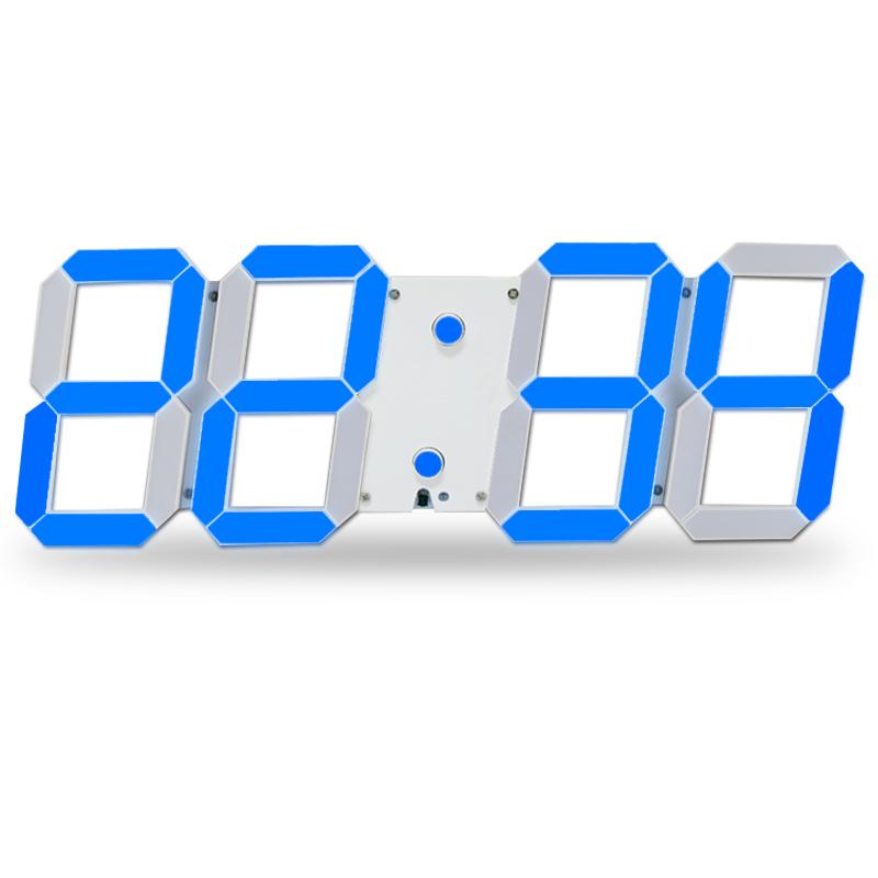 Remote Control Large LED Digital Wall Clock Modern Design Home Decor 3D Decoration Big Decorative Watch(China (Mainland))