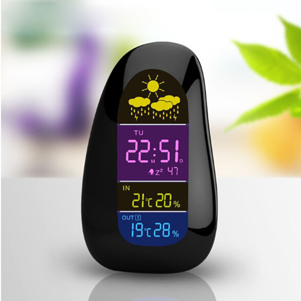 Cobblestone LED Digital Weather Station Wireless Indoor Outdoor Temperature Humidity Meter Thermometer Hygrometer Alarm Clock(China (Mainland))