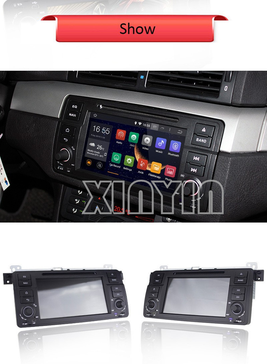 Android 4.4 CAR DVD GPS Capacitive touch screen for BMW E46 dvd player Cortex A9 dual-core 1.6G with 3G WIFI+ Free map(China (Mainland))