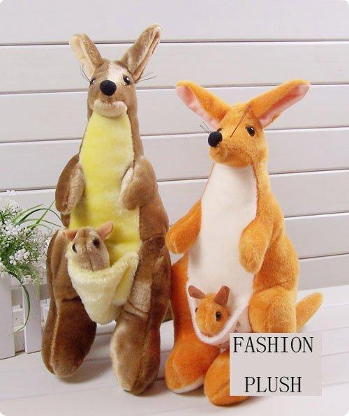 50 cm plush toy Mother and baby kangaroo plush toys soft stuffed plush toy Christmas gift factory supply freeshipping(China (Mainland))