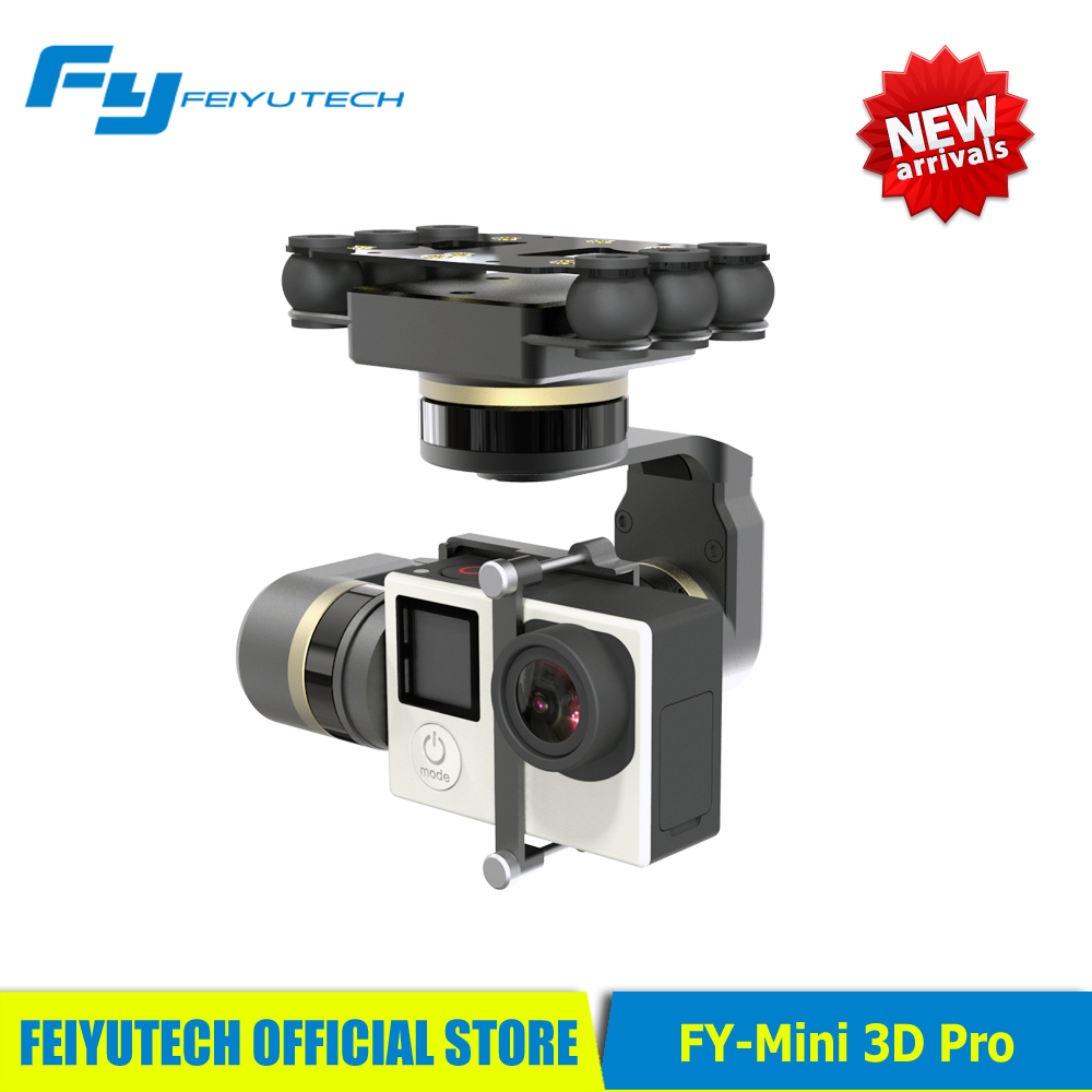 Original Feiyu MINI 3D Pro gimbal for aircrafts helicopters drones surport GoPro4/GoPro3+/GoPro3 Dji phantom Series quadcopter<br><br>Aliexpress