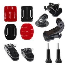 For Go Pro Accessories Set of Tripod Mount Adapter + Buckle + Mount + Pivot Arm Extension  for All Gopro Hero2 3 3+ 4 Black