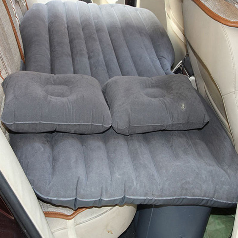 New Style Car Travel Bed PVC Inflatable Mattress Car Air Thickening Bed With Car Air Pump Inflatable Pillow With Repair bag(China (Mainland))
