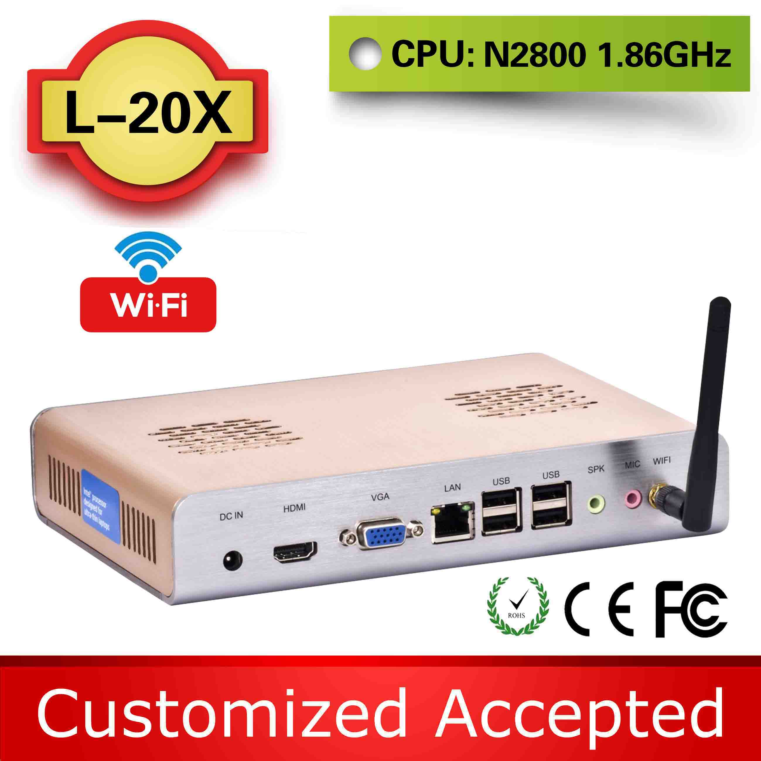 The cheapest xbmc tv box netbook laptop atom mini pc L-20X N2800 4g ram 320g hdd support Touchpad(China (Mainland))